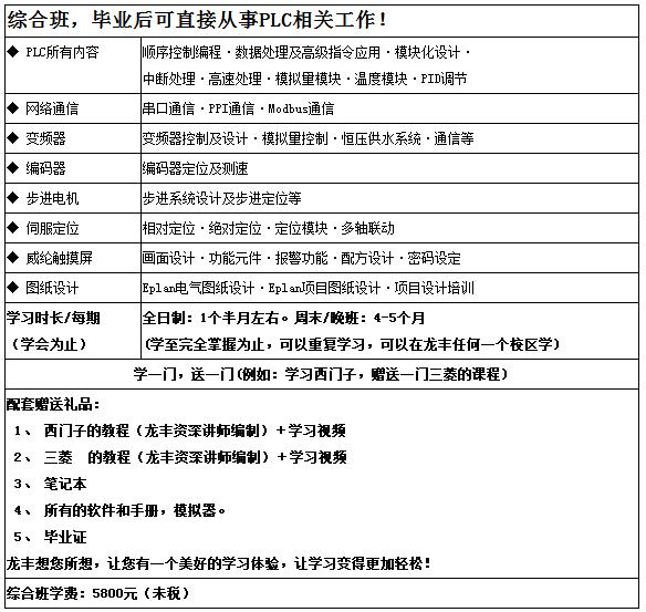 三菱FX系列综合课程班