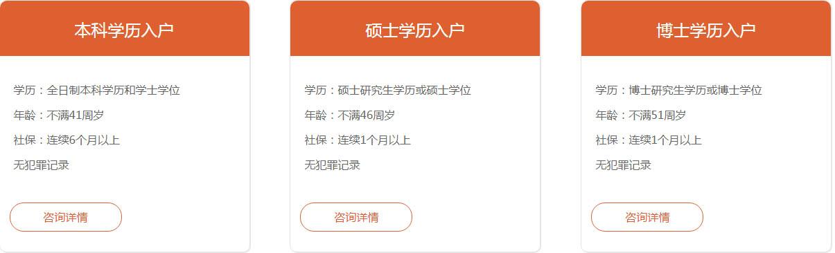 广州学历入户条件要求