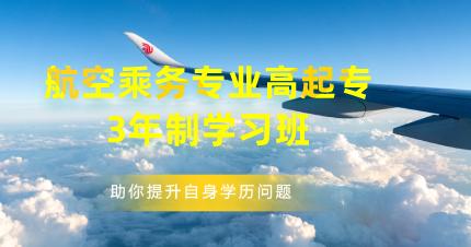 东莞航空乘务专业高起专3年制学习班
