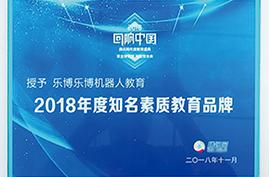 2018年度知名素质教育品牌