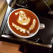 咖啡拉花作品